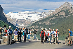 Tourists at Lake Louise, Banff National Park