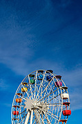 Ferris wheel in Parc d'atraccions Tibidabo, Barcelona, closed in February 2021 due to Covid-19, Coronavirus restrictions.