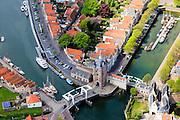 Nederland, Zeeland, Schouwen-Duiveland, 09-05-2013; Zierikzee, Zuidhavenpoort.<br /> Zierikzee, located on the island of Schouwen, Zealand.<br /> <br /> luchtfoto (toeslag op standard tarieven)<br /> aerial photo (additional fee required)<br /> copyright foto/photo Siebe Swart