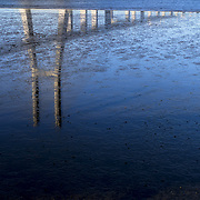 Low tide in the Tagus River at Parque das Nações, in the Eastern part of Lisbon.