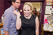 """Sept. 16 - TEMPE, AZ: MEGHAN MCCAIN waves while she walks into Changing Hands Bookstore in Tempe, AZ, to sign her book, """"Dirty Sexy Politics"""" Thursday, Sept. 16. McCain's book is a recounting of her life on the campaign trail during the 2008 election, when her father, John McCain, was the Republican candidate for President of the United States.  Photo by Jack Kurtz"""