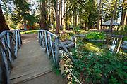 Garden pond at Tallac Historic Site, Lake Tahoe, California USA
