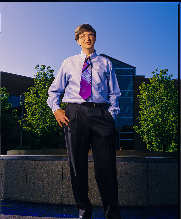 Bill Gates photographed at Microsoft in Redmond, Washington, May, 1993