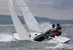 International Dragon Class Edinburgh Cup 2015.<br /> <br /> The first days racing in a strong southerly.<br /> ESP71 , BEAR, Martin Payne, Salcombe YC<br /> <br /> <br /> Credit Marc Turner