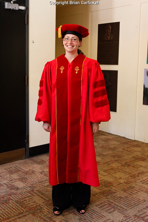 Kate with her Doctoral robe at The University of Southern California on Wednesday, May 12th, 2011.