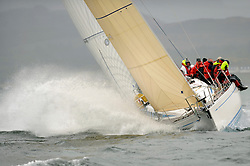 The Clyde Cruising Club's Scottish Series held on Loch Fyne by Tarbert. .Day 4 Racing with a wet Southerly to start clearing up for the last race...GBR9740R ,Sloop John T ,Iain & Graham Thomson ,CCC ,Swan 40
