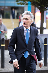 © Licensed to London News Pictures . 02/10/2017. Manchester, UK. Chancellor PHILIP HAMMOND at the start of the second day of the Conservative Party Conference at the Manchester Central Convention Centre . Photo credit: Joel Goodman/LNP