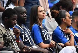 Sandra corentin tolisso girlfriend during the FIFA World Cup 2018 Round of 8 match at the Nizhny Novgorod Stadium Russia, on July 6, 2018. . Photo by Christian Liewig/ABACAPRESS.COM