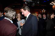 DAVID CAMERON, Book launch for Citizen by Charlie Brooks. Tramp. London. 1 April  2009