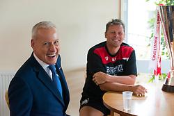 Bristol City manager, Steve Cotterill talks to Jim White during a Sky Sports interview - Mandatory byline: Dougie Allward/JMP - 07966386802 - 04/08/2015 - FOOTBALL - Bristol City Training Ground -Bristol,England - Sky Sports Interview