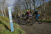 Mountain biking in Glentress Forest on the 10th November 2018 in Glentress, Scotland in the United Kingdom. Glentress Forest is a mountain biking destination located near Peebles in the Scottish Borders.