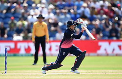 England's Joe Root in batting action during the ICC Champions Trophy, semi-final match at the Cardiff Wales Stadium.