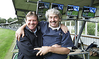 Golfleraren Donald Armour (l) en clubfitter Walter Bouckaert van AMSTELHOF Golfschool. Copyright Koen Suyk
