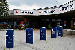 Reading Station signage. Easing of Coronavirus lockdown, Reading, UK 12 June 2020