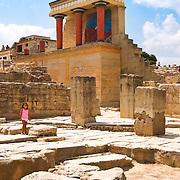 Northern entrance columns at Knossos Minos's Palace