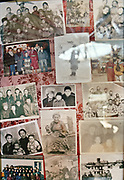 In every yurt throughout Mongolia, opposite from the entrance and beside the shrine,  are portraits of the family members.