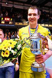 20150426 NED: Eredivisie Landstede Volleybal - Abiant Lycurgus, Zwolle<br />Wouter ter Maat (8) of Landstede Volleybal, man van de wedstrijd<br />©2015-FotoHoogendoorn.nl / Pim Waslander