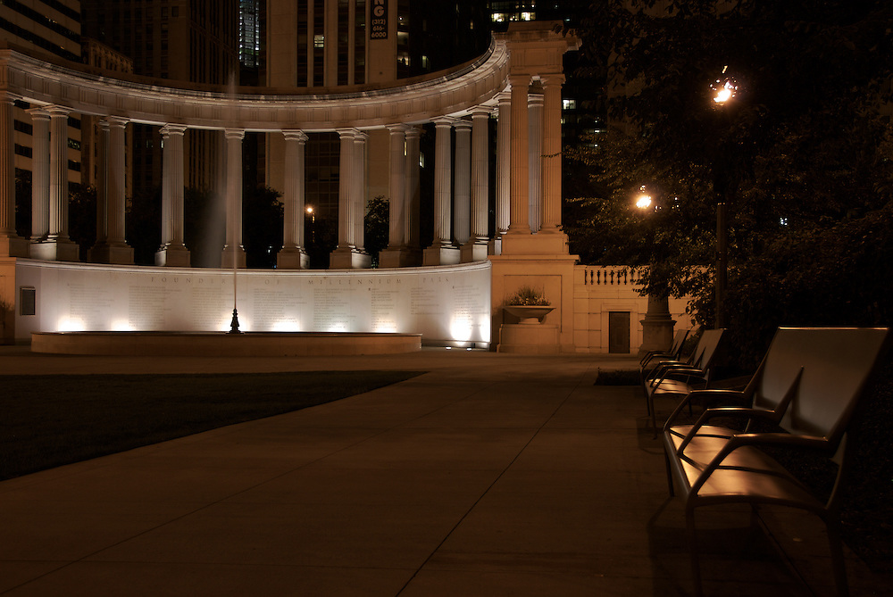 View of Millenium Park Monumentun in Chicago