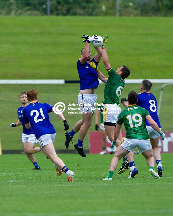 04-07-21. Meath v Longford - Leinster SFC Quarter-Final at Pairc Tailteann, Navan.<br /> Kevin Diffley, Longford in action against Meath.<br /> Photo: John Quirke / www.quirke.ie<br /> ©John Quirke Photography, 16 Proudstown Road, Navan. Co. Meath. (info@quirke.ie / 046-9028461 / 087-2579454).