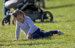 Mia Tindall at the Land Rover Gatcombe Horse Trials, on Gatcombe Park, Gloucestershire.
