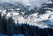 Alpine ski resort of Klosters, Switzerland