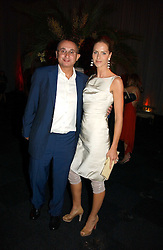 TRINNY WOODALL and her husband JONNY ELICHAOFF at the Fortune Forum Dinner held at Old Billingsgate, 1 Old Billingsgate Walk, 16 Lower Thames Street, London EC3R 6DX<br />