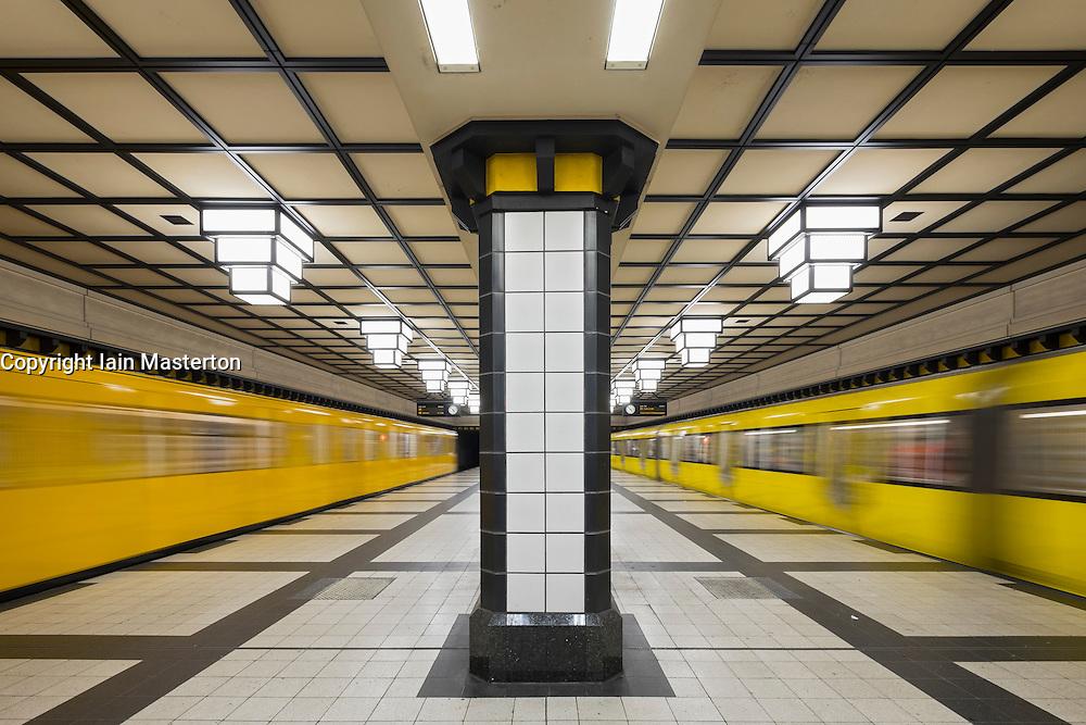 Platform of subway station in Berlin  Germany