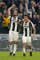 Esultanza Paulo Dybala e Gonzalo Higuain Juventus dopo gol 2-1, goal celebration <br /> Torino 10-03-2017, Juventus Stadium, Football Calcio 2016/2017 Serie A, Juventus - Milan, Foto Filippo Alfero/Insidefoto