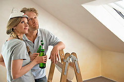 Taking a break new home renovating couple