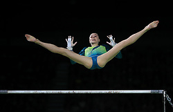 Australia's Georgia-Rose Brown on the Uneven Bars in the Women's Individual All-Round Final at the Coomera Indoor Sports Centre during day three of the 2018 Commonwealth Games in the Gold Coast, Australia.