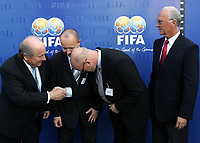 Josef Blatter FIFA Praesident, Petr Fousek General Secretary Chech Rep.) Guttrom Dilling (Team Administrator) and Franz Beckenbauer. © Valeriano Di Domenico/EQ Images