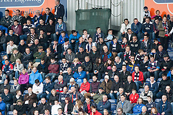 South Stand fans.<br /> Falkirk 3 v 1 Alloa Athletic, Scottish Championship game played today at The Falkirk Stadium.<br /> © Michael Schofield.
