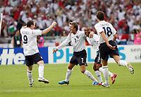 Photo: Chris Ratcliffe.<br /> England v Ecuador. 2nd Round, FIFA World Cup 2006. 25/06/2006.<br /> David Beckham of England celebrates scoring the first goal.