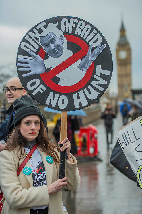 Dr Melissa Haskins with the Ghostbusters sign - The picket line at St Thomas' Hospital. The second official junior doctors strike started at 8 AM this morning against proposals by the government.