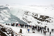 The enormous Gullfoss waterfall in Iceland's Golden Circle