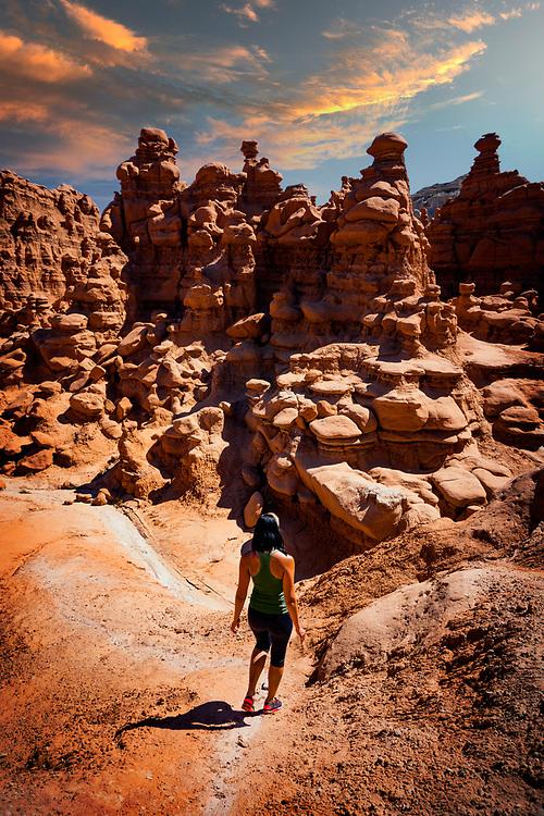 Hiking Landscape of Goblin Valley State Park in Utah. ©justinalexanderbartels.com