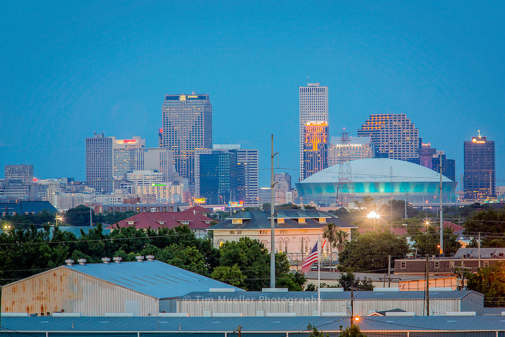 View of downtown New Orleans from Ochsner Hospital in Jefferson Parish, La.