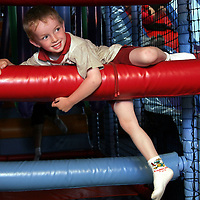 Gavin Cosgrove enjoyed hanging around as visiting kids from Chernobyl were given a day out on Friday.<br /> <br /> Photograph by Yvonne Vaughan.