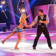 NLD/Hilversum/20130112 - 4e Liveshow Sterren Dansen op het IJs 2013, Jarno Harms en schaatspartner Katie Stainsby