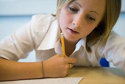 Girl in classroom,
