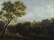 View of Frascati', c1820.  John Joseph Xavier Bidault (1758-1846) French painter. Bidault  spent many years in Italy painting 'tourist' landscpaes.