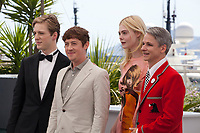 A.J. Lewis, Alex Sharp, Elle Fanning and director John Cameron Mitchell at the How To Talk To Girls At Parties film photo call at the 70th Cannes Film Festival Sunday 21st May 2017, Cannes, France. Photo credit: Doreen Kennedy