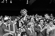 06/09/1970<br /> 09/06/1970<br /> 6 September 1970<br /> All-Ireland Senior Hurling Final: Cork v Wexford at Croke Park, Dublin. <br /> <br /> Cork Captain, Paddy Barry, with the cup.