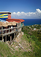 Perched on a steep slope, El Nuevo Horizonte restaurant has a spectacular view of the Caribbean.