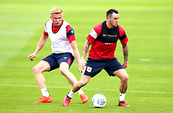 Lee Tomlin and Taylor Moore in action as Bristol City return to training ahead of their 2017/18 Sky Bet Championship campaign - Mandatory by-line: Robbie Stephenson/JMP - 30/06/2017 - FOOTBALL - Failand Training Ground - Bristol, United Kingdom - Bristol City Pre Season Training - Sky Bet Championship