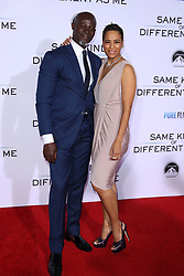"""Djimon Hounsou, Daphne Wayans at the Paramount Pictures And Pure Flix Entertainment's """"Same Kind Of Different As Me"""" Premiere held at the Westwood Village Theatre on October 12, 2017 in Westwood, California, USA (Photo by Art Garcia/Sipa USA)"""