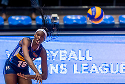 07-06-2018 NED: Volleyball Nations League Dominican Republic - Italy, Rotterdam<br /> Italy win in straight sets / Paola Ogechi Egonu #18 of Italy