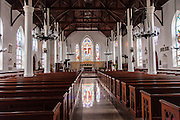 Interior of the Christ Church Cathedral Anglican Church in Nassau , Bahamas.