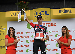 July 20, 2018 - Valence, France - VALENCE, FRANCE - JULY 20 : SCHAR Michael (SUI) of BMC Racing Team during stage 13 of the 105th edition of the 2018 Tour de France cycling race, a stage of 169.5 kms between Bourg d'Oisans and Valence on July 20, 2018 in Valence, France, 20/07/2018 (Credit Image: © Panoramic via ZUMA Press)