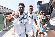 THOUSAND OAKS, CA Sunday, August 12, 2018 - Nike Basketball Academy. Isaiah Stewart 2019 #23 of La Lumiere School and Alonzo Gaffney 2019 #8 of Brewster Academy pose for a photo. <br /> NOTE TO USER: Mandatory Copyright Notice: Photo by Jon Lopez / Nike